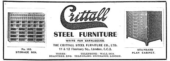 The Crittal Steel Furniture - No 105 Storage Bin & Plans Cabinet