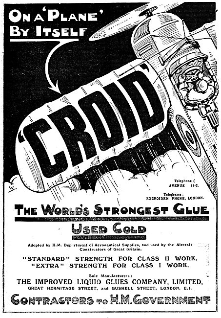 Croid Glues For Aeroplane Constructors