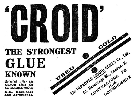 Croid  For Aeroplanes The Strongest Glue Known