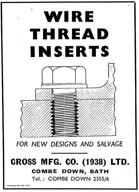 Cross MFG Wire Thread Inserts.