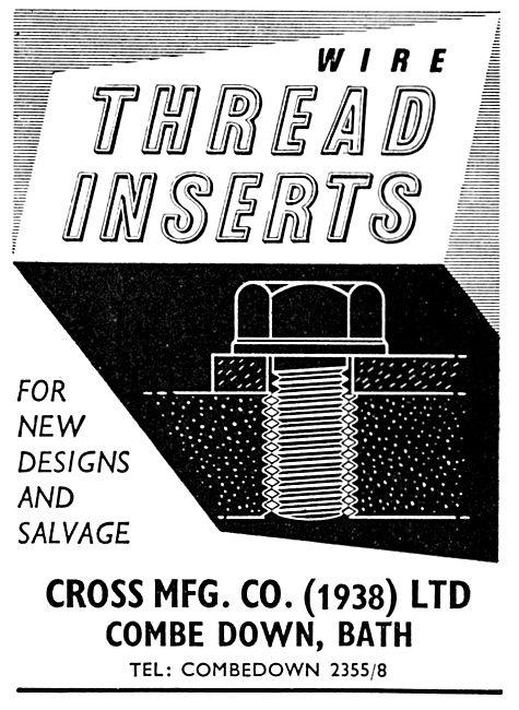 Cross MFG. Cross Wire Thread Inserts