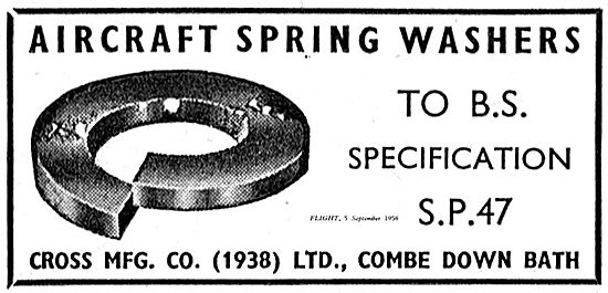 Cross MFG BS Spec Spring washers For Aircraft