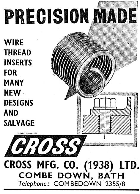 Cross MFG Wire Threads & Inserts For Aircraft Engineers