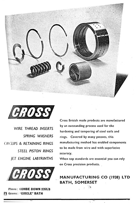 Cross Manufacturing. Wire Thread Inserts, Washers & AGS Parts