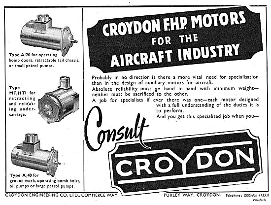 Croydon Engineering.  FHP Electric Motors & Electrical Components