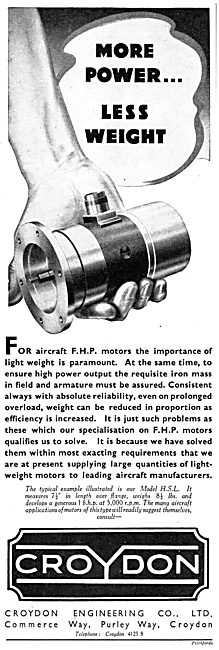 Croydon Engineering : Electrical Components For Aircraft