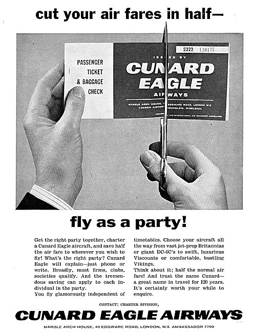Cunard Eagle Airways - Charter Services