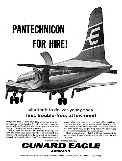 Cunard Eagle Airways - Pantechnicon For Hire!