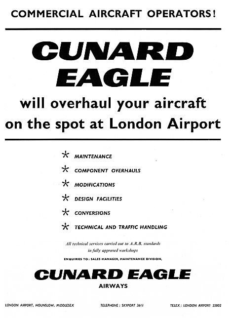 Cunard Eagle Airways 1961