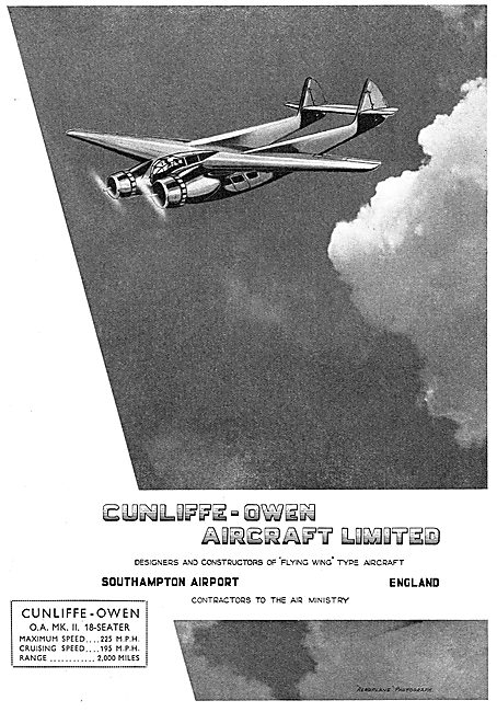 Cunliffe-Owen Flying Wing Aircraft
