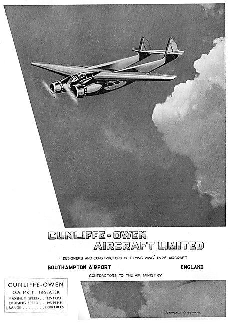 Cunliffe-Owen O.A. MK II Flying Wing Type Aircraft