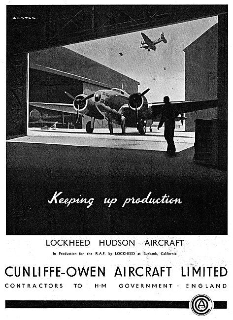 Cunliffe-Owen. Manufacturing The Lockheed Hudson.