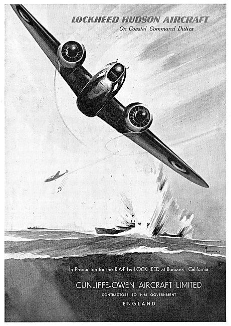 Cunliffe-Owen. Lockheed Hudsons For Coastal Command.