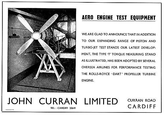 John Curran Aero Engine Test Equipment For The Dart Engine