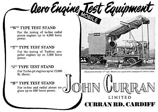 John Curran Aero-Engine Test Equipment & Test Stands