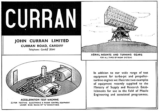 Curran Aero Engine Test Equipment - Centrifuge & Radar Mounts