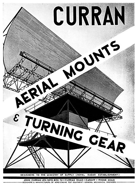 John Curran Ground Radar Aerial Mounts & Turning Gear