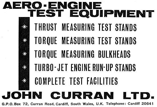 John Curran Aero Engine Test Equipment 1965