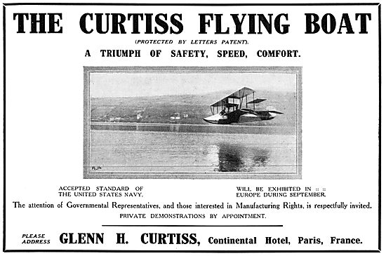 Curtiss Flying Boats 1913