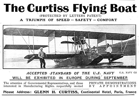 The Curtiss Flying Boat - Accepted Standard Of The US Navy