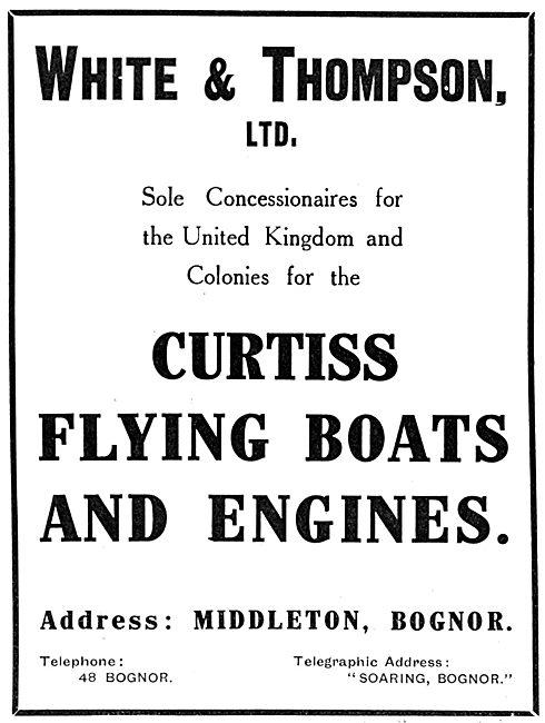Curtiss Flying Boats - White & Thompson Ltd.  Middleton, Bognor.