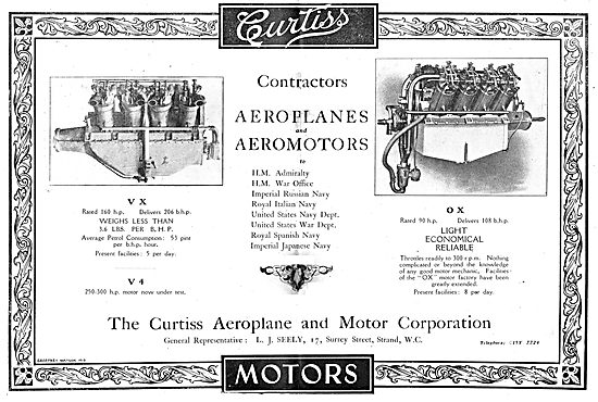Curtiss Aeroplanes & Aeromotors. Used By Governments Worlwide