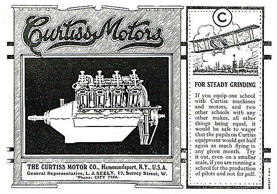 Curtiss Motors Aeroplanes & Aero Engines