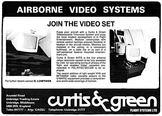 Curtiss & Green Aircraft Video & Audio Systems