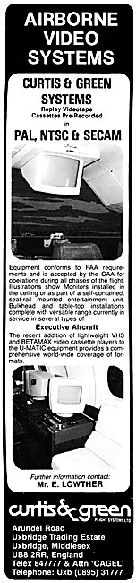 Curtiss & Green Airborne Video Systems