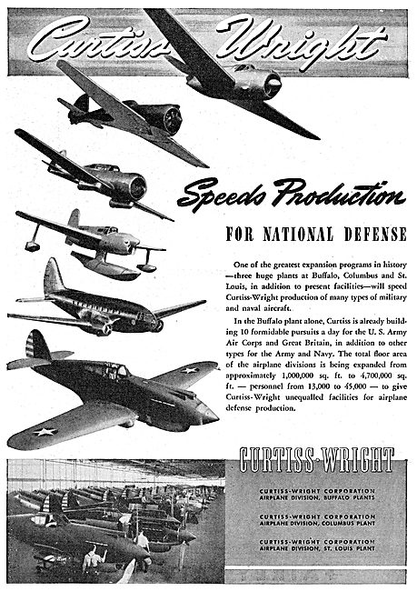 Curtiss-Wright Aircraft Range