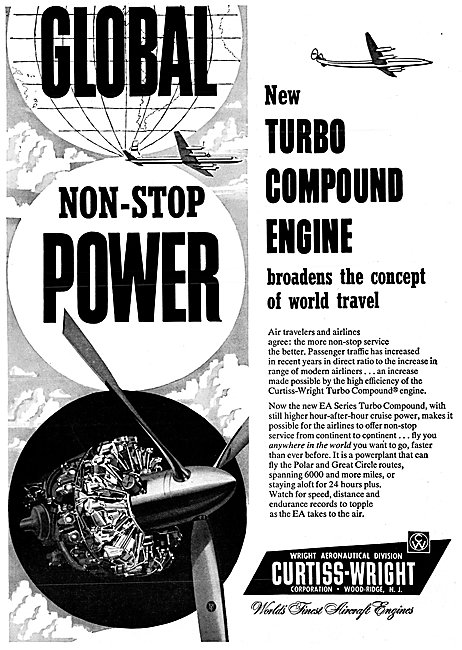 Curtiss-Wright Turbo Compound Aircraft Engines