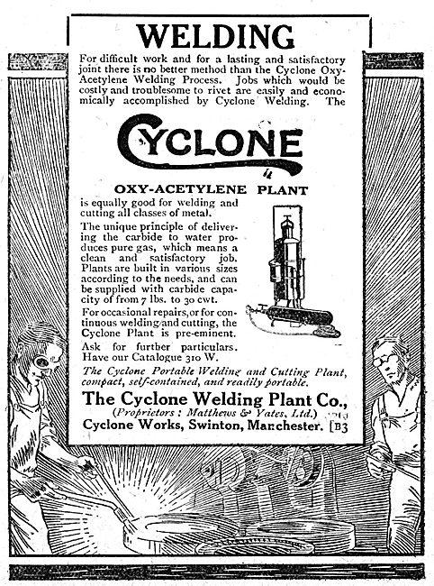 The Cyclone Welding Plant Company. Oxy-Acetylene Plant