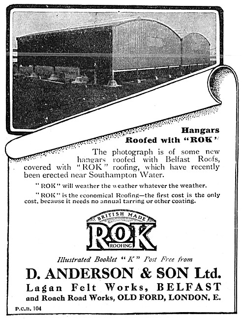 D.Anderson & Sons ROK Belfast Roofs For Aeroplane Hangars