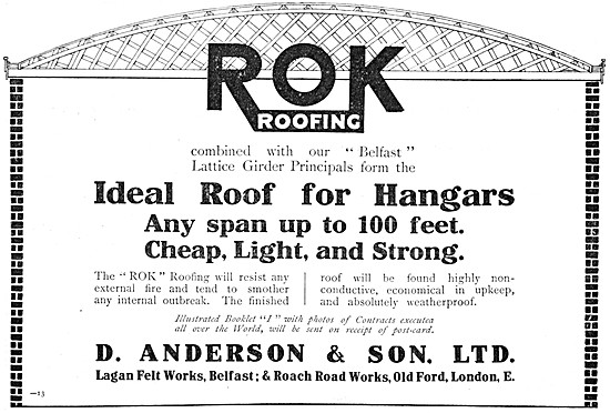D.Anderson ROK Belfast Roofs For Aircraft Hangars