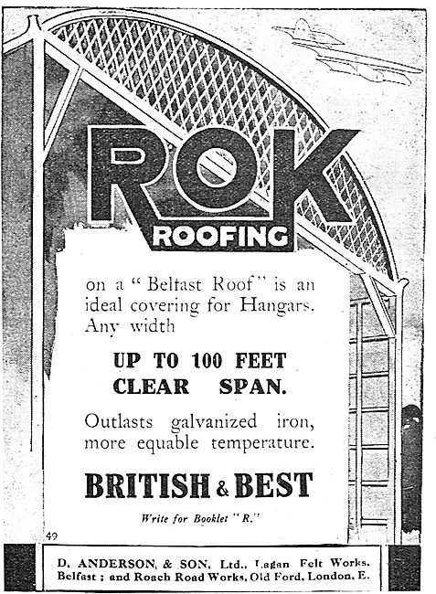 D.Anderson & Sons ROK Belfast Roofs 100ft Span Hangar Roofs