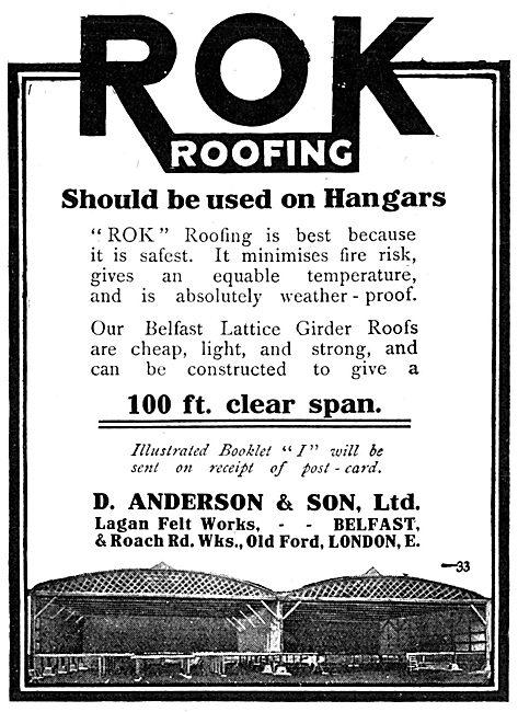 D.Anderson & Sons ROK Belfast Lattice Girder Roofs For Hangars
