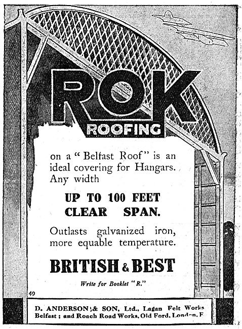D.Anderson & Sons ROK Belfast Roofs For Aircraft Hangars