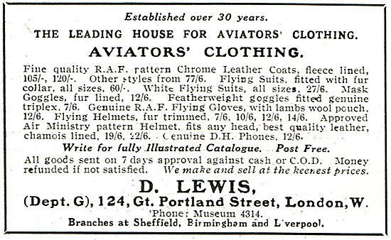 D.Lewis - The Leading House For Aviators Clothing