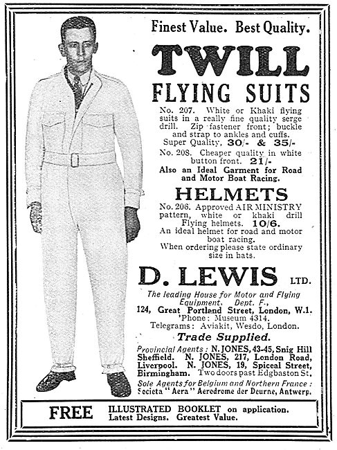 D Lewis Finest Value, Best Quality Twill Flying Suits
