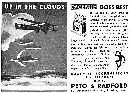 Dagenite Aircraft Batteries