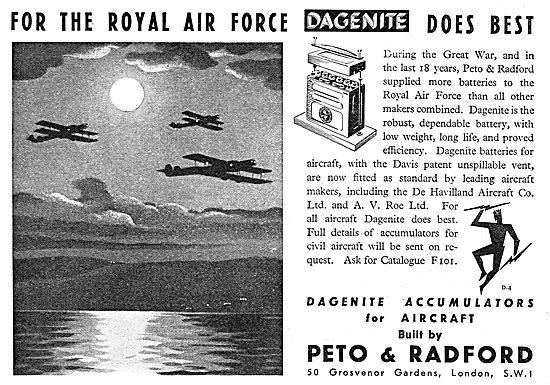 Dagenite Aircraft Batteries