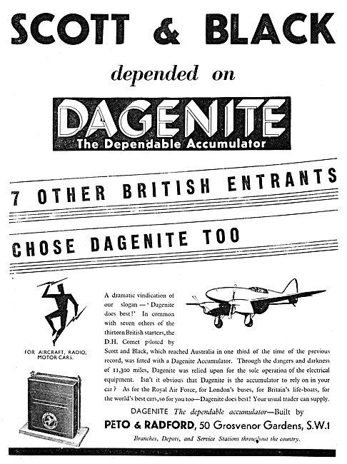 Dagenite Accumulators For Aircraft - Battery