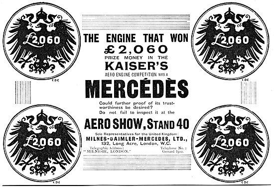 Milnes-Daimler-Mercedes - Mercedes Aero Engine 1912