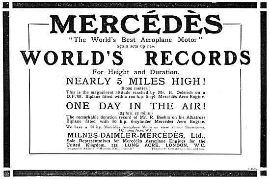 Milnes-Daimler-Mercedes. Mercedes Aero Engine 1914