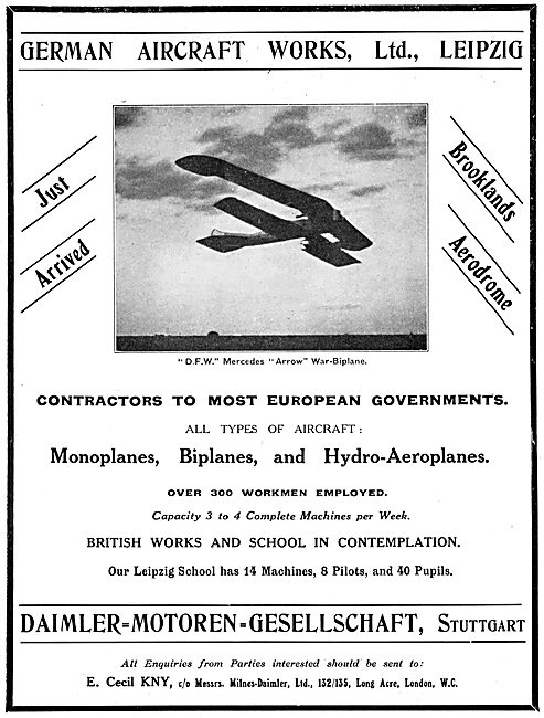 D.F.W. Mercedes Arrow War-Biplane