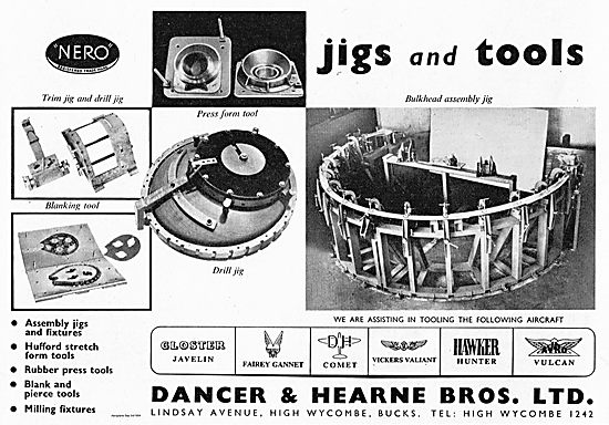 Dancer & Hearne Jigs & Tools For The Aircraft Industry