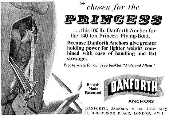 Danforth, Jackson & Co Flying Boat Anchor