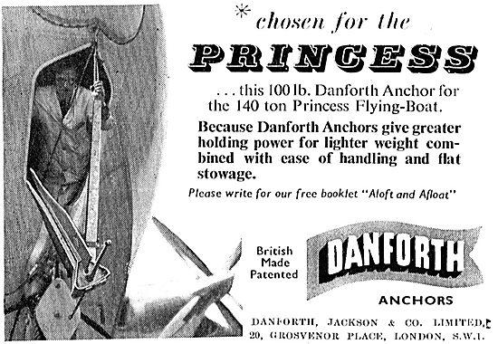 Danforth, Jackson & Co Flying Boat Anchor