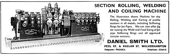 Daniel Smith Section Rolling, WElding & Coiling Machine