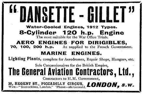 Dansette Gillet 8 Cylinder 120 HP Aero Engine